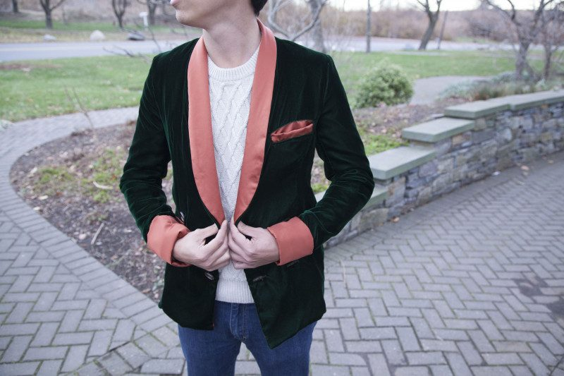 To be fair, he's pretty lucky that his girlfriend made him this phenomenal smoking jacket