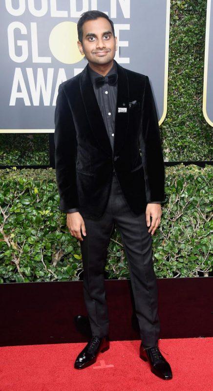 Aziz Ansari wearing Ermenegildo Zegna Couture