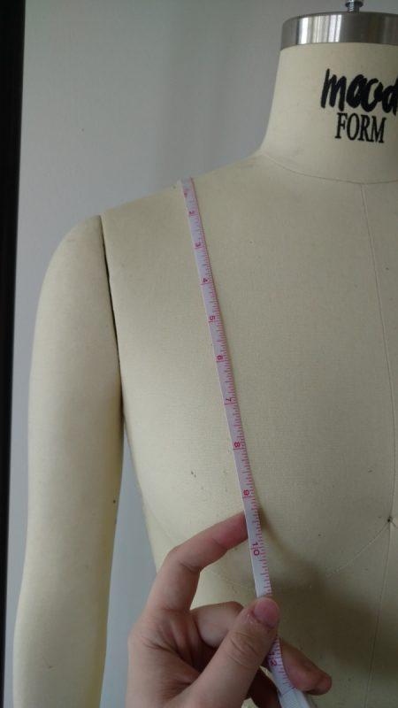 shoulder to apex