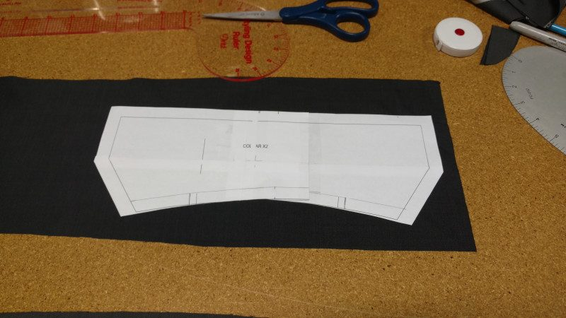 You can also cut the collar from scrap once the larger pieces are cut out.