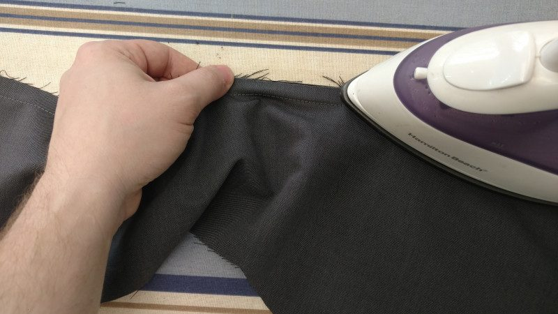 Stretching seam allowance instead of clipping it makes for a stronger seam at stress points like the waistline.