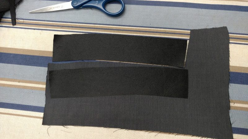 If you cut out the interfacing first, you can use it as a template.