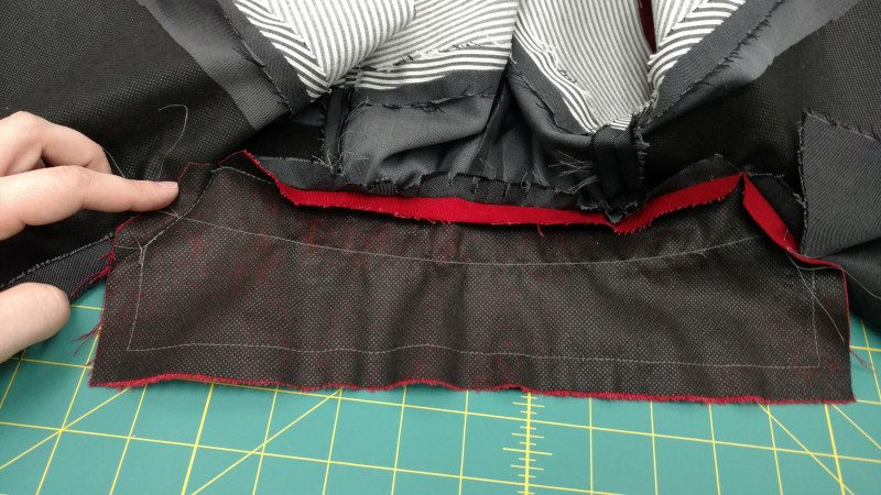 You're basically extending the neck edge seam on both collar and collar facing, but sewing them together instead of sewing them to the neckline.