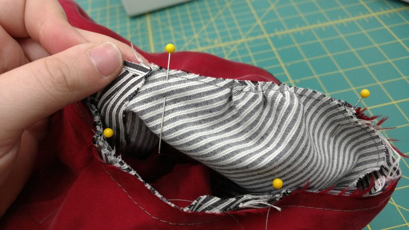 These gathers will be hidden in the seam allowance, so make sure they're evenly distributed.
