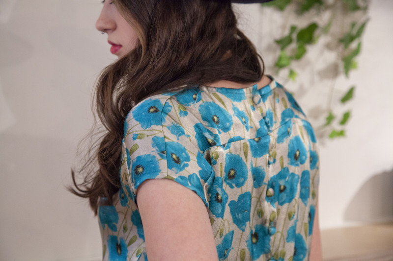 Button Back Blouse Free Sewing Pattern