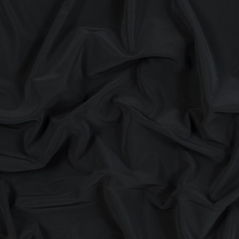 Black on Black Stretch Knit Reflective Fabric