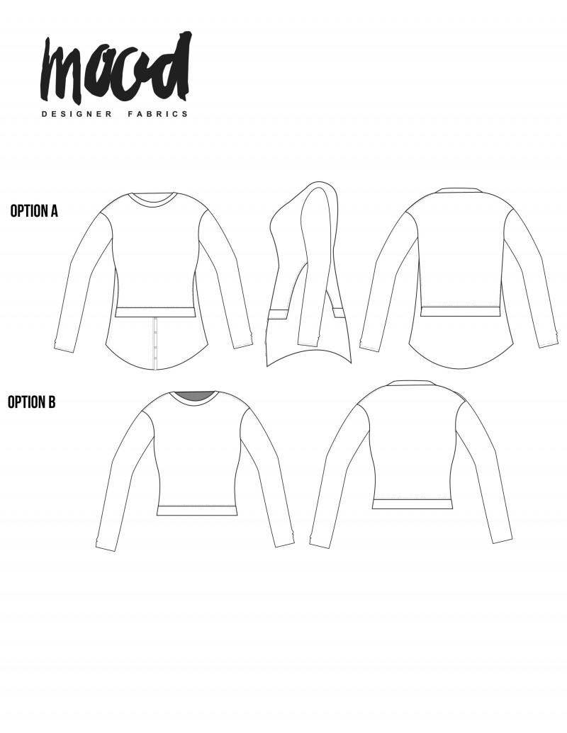 Sewing Pattern Coat Makesa Women Malva
