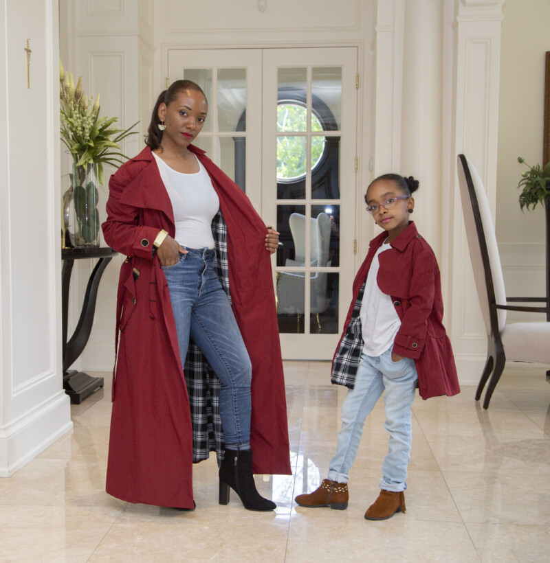 Mother daughter pattern, free kids trench coat pattern, kids coat pattern, free fall pattern, free coat pattern