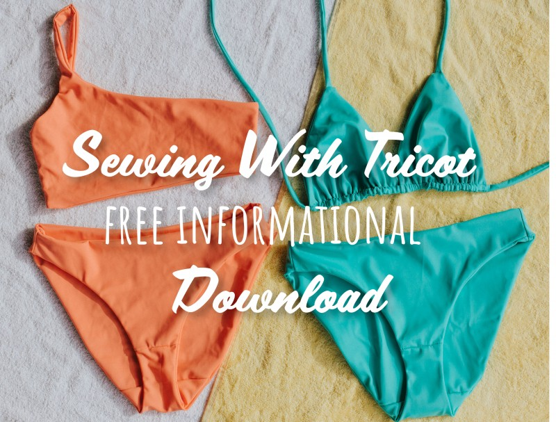 how to sew tricot