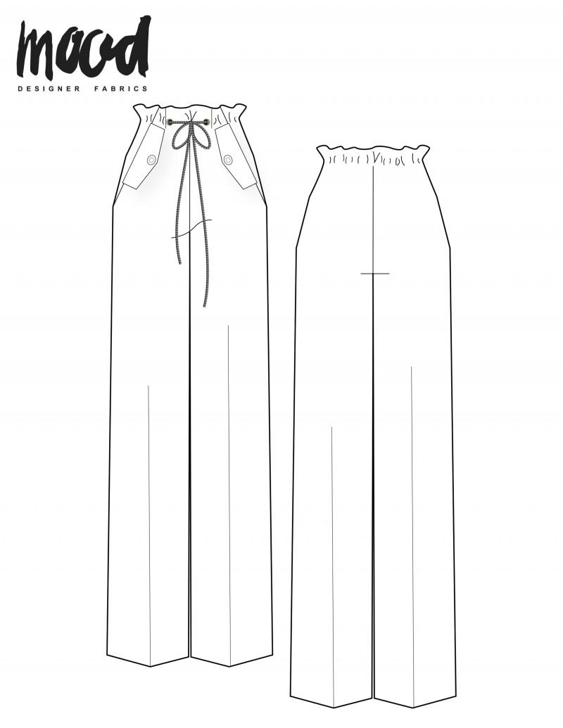 free paper bag pants sewing pattern