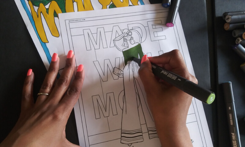 Keep Calm And Relax - Free Fashion Coloring Pages - Mood Sewciety