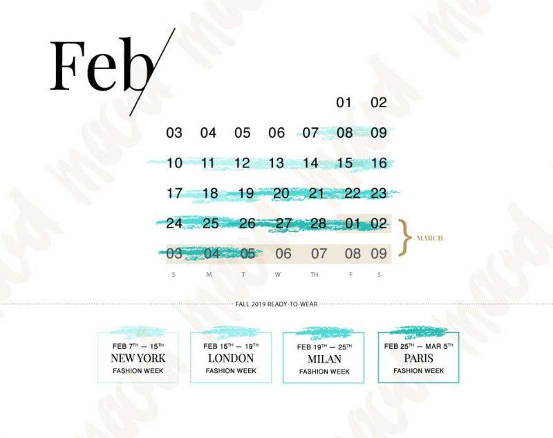 Fashion Week Schedule