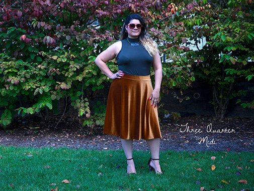 PLUS SIZE Red on Red Apron Circular Skirt Full Figure