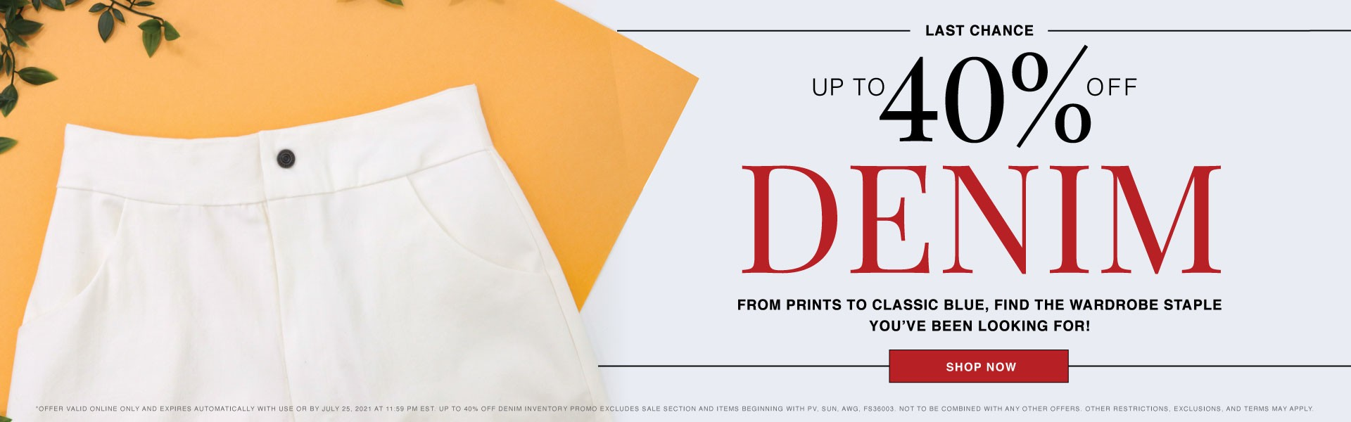 Up to 40% Off Denim Fabrics - Shop the Sale Now!