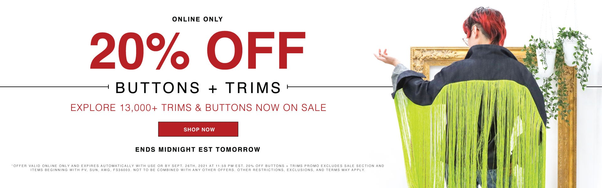 Shop 20% Off Trims & Buttons Today!