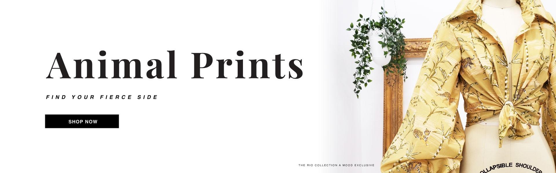 Shop Animal Printed Fashion Fabrics
