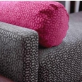 Fuchsia Geometric Bolster Pillow & Gray Geometric Bench