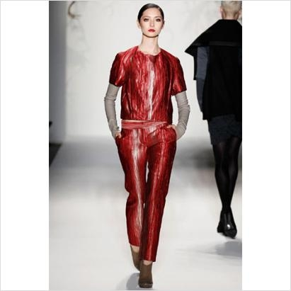 Home As Fashion: Red Pant Suit