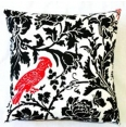 Printed Lipstick Red Bird Pillow
