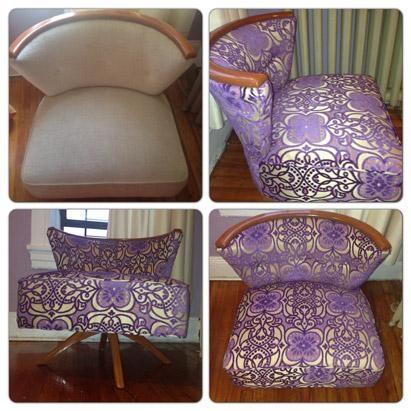 Purple Chenille Chair