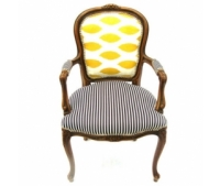 Yellow and Striped Chair