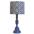 Blue Geometric Lamp