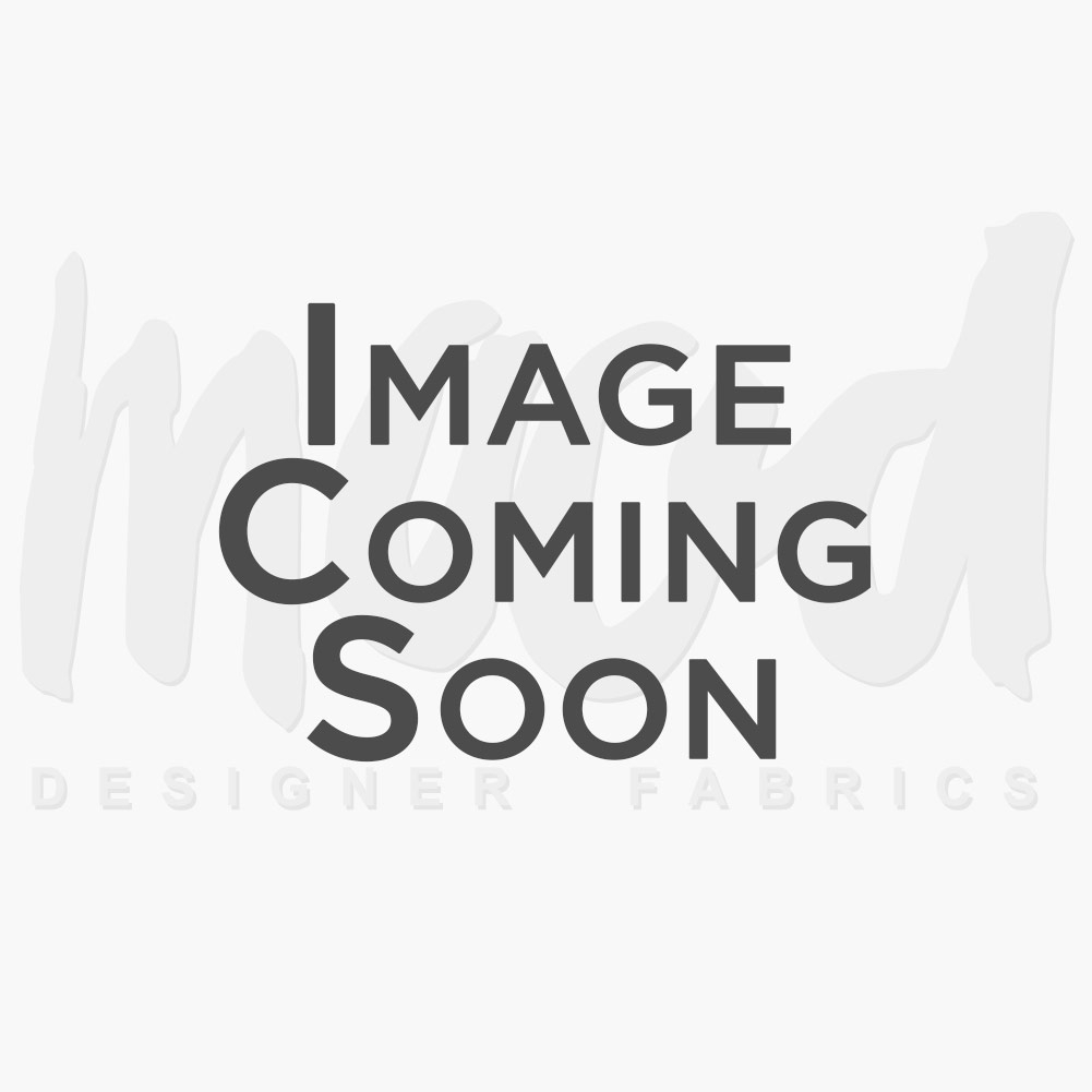 Charcoal Gray Rose Embroidered Striped Polyester Suiting