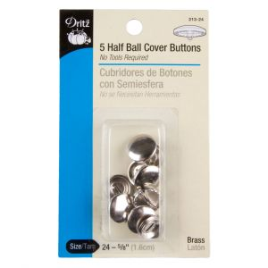Dritz size 24-5/8 Half Ball Covered Buttons