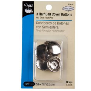 Dritz Size 36-7/8 Half Ball Covered Buttons