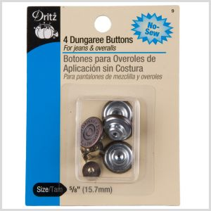 Dritz Size 5/8 Dungaree Buttons
