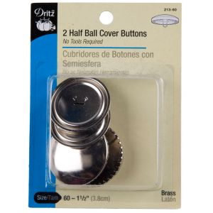 Dritz Size 60-1 1/2 Half Ball Covered Buttons