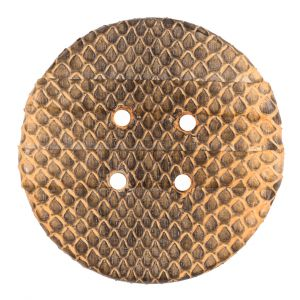 61mm Cashew Snakeskin Covered Button
