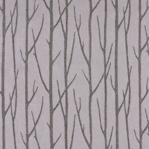 Silver Embroidered Trees Menswear Poly