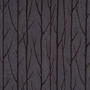 Onyx Embroidered Trees Menswear Poly