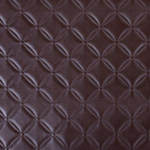 Chocolate Brown Quilted Vinyl