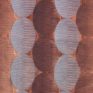 Henna/Gray Rows of Ovals Textured Jacquard