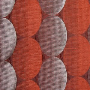 Rust/Taupe Rows of Ovals Textured Jacquard