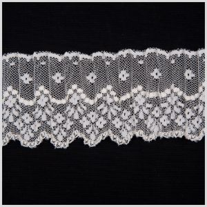 2.5 White Pleated Lace
