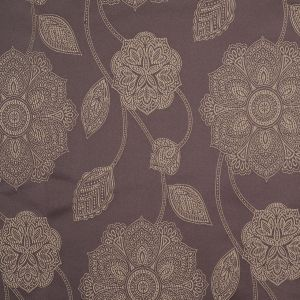 Gold and Brown Floral Satin Jacquard