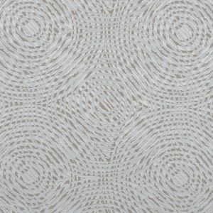 Champagne Geometric Swirls on a Cotton and Polyester Woven