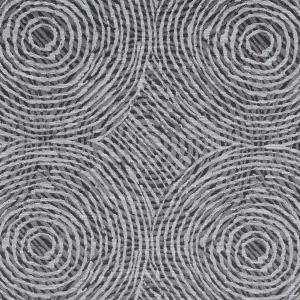 Slate Geometric Swirls on a Cotton and Polyester Woven