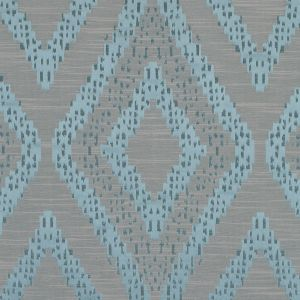 Azure Diamond Woven Cotton and Polyester Blend