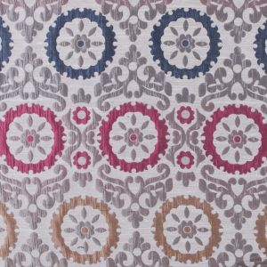 Gray and Pink Floral Brocade