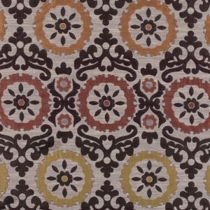 Brown, Gold and Copper Floral Brocade