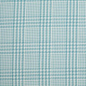 Spanish Spa Blue Houndstooth Poly-Cotton Woven