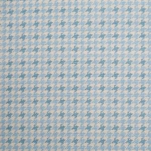 Spanish Baby Blue Houndstooth Poly-Cotton Woven