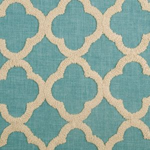 Dresden/Beige Classical Embroidered Linen-Like Polyester