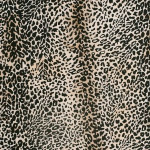 Black/Beige Cheetah Printed Micro-Polyester and Cotton
