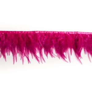 6 Pink Cock Feather Fringe