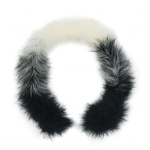 Black and Cream Marabou Feather Scarf - 33